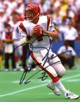 BOOMER ESIASON SIGNED AUTOGRAPHED 8x10 PHOTO BENGALS LEGEND RARE BECKETT BAS