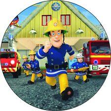 Sam le Pompier Decoration Gateau Disque Azyme Comestible Anniversaire 20cm
