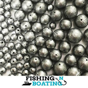 BALL SINKERS QTY 81 SIZE 00, 1, 2, 3, 4 SINKER FISHING TACKLE PROFESSIONAL MADE
