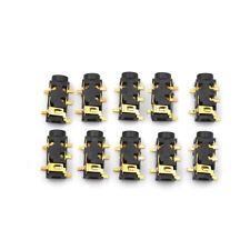 10Pcs 3.5mm 1/8 Female Audio Connector 5 Pin SMT Stereo Headphone PJ327A Pop JB