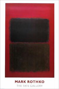Mark ROTHKO Light Red Over Black Color Field Poster 32-3/4 x 23