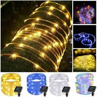 Solar Powerd LED Strip Rope Lights Fairy String Light Xmas Outdoor Tube Light AU