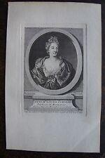 ANNE Me LOUISE D'ORLEANS DUCHESSE DE MONTPENSIER . PORTRAIT,1760