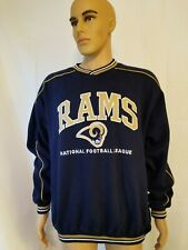 Vintage Lee Sports LA Los Angeles Rams Crewneck Sweater Sweatshirt Blue XL NFL