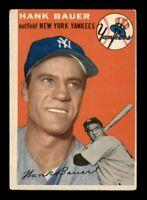 1954 Topps Set Break # 130 Hank Bauer VG *OBGcards*