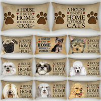 Home Decor Cute Dog Pillow Cover Sofa Bedroom Car Pillowcase Cushion Cover