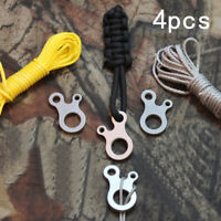 4* Stainless Steel Paracord Quick Tie Adjusters Bushcraft Survival Camping #HD3