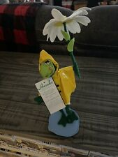 "Annalee 2016 9"" Puddle Jumper Frog With Daisy Umbrella Nwt"
