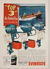 1951 Print Ad Evinrude Outboard Motors Big Twin,Fastwin,Fleetwin Milwaukee,WI