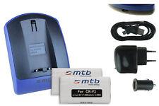 2 Akkus + USB-Ladegerät CR-V3 für Pentax *istD, *istDL, *istDS, K100D, K110D