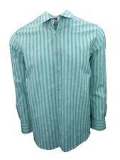 New Mens Tommy Bahama Green Striped Long Sleeve Shirt Island Modern Fit Medium