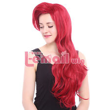 Child Red Ariel Long Natural Wavy Girls Lovely Costumes Cosplay Full Wig ZY91