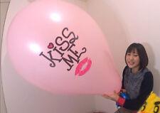 3 x 36-40 inch China Pink ***Kiss Me*** Print Big Balloon Looner