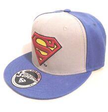 Hat Superman Classic Logo 2 Colour Grey/Cobalt snapback cap DC Comics