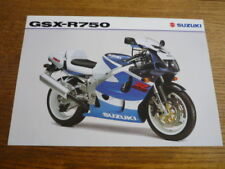 SUZUKI GSX -R750 MOTORBIKE BROCHURE 1998/99 - POST FREE (UK)