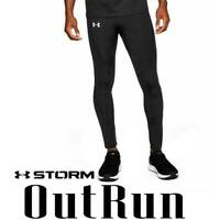 "UNDER ARMOUR MEN'S UA ""OUTRUN THE STORM"" TIGHTS BLACK REFLECTIVE 1318747-001 M"