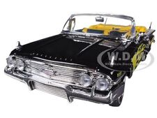 1960 CHEVROLET IMPALA BLACK WITH FLAMES CUSTOM 1/18 MODEL CAR BY MOTORMAX 79009