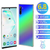 """Note10 2+16GB 6.8"""" Android 9.1 Unlocked Smartphone Cell Phone Dual SIM Phablet"""