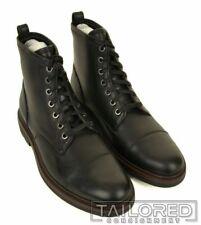 NWB $395 - COACH Henry Black Leather Shoes Combat Cap Toe Boots FG1604 - 11.5