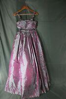 VTG ALYCE Designs 2 Piece Formal Dress Prom Purple Multicolor Size 4 EUC Floral