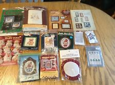Lot of vintage cross stitch kits (14) lots of new, frames, etc.