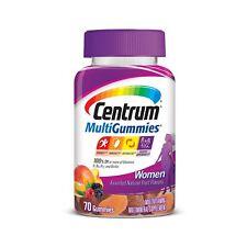Centrum Women MultiGummies (70 Count Natural Cherry Berry Orange Flavor) Gummies
