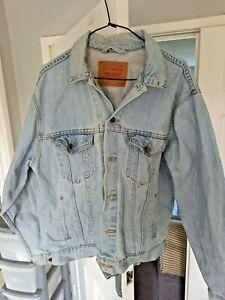 Vintage LEVI'S 70507 0313 Blue 90s Coat Casual Denim trucker Jacket Mens m