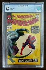 THE AMAZING SPIDER-MAN #45 (1967) 3RD. APP. OF THE LIZARD CBCS 6.0 WHITE PAGES