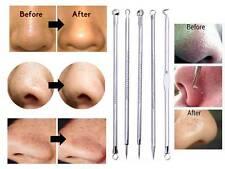 5-pcs Blackhead Whitehead  Pimple Acne Blemish Extractor Remover Tool Set Kit *