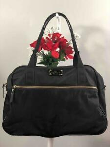 KATE SPADE NY Black Nylon Large Weekender Duffle Bag #WKRU1414
