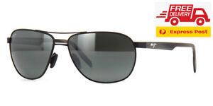 Maui Jim Castles POLARIZED Sunglasses - Matte Black Neutral Grey