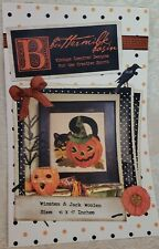 Buttermilk Basin WINSTEN & JACK WOOLEN KIT Pumpkin & Black Cat KIT Wool Applique