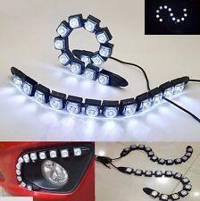 2x 12 LED Soft Flexible Daytime Running Driving DRL Eagle Eye Fog LED Light Lamp