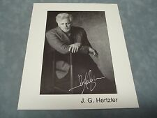 Star Trek Deep Space 9 *J. G. Hertzler* Signed 8 X 10 Photo