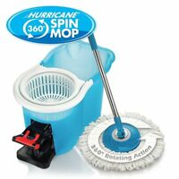 Hurricane Spin Mop Home Cleaning System by BulbHead Floor Mop Bucket Hardwood TV