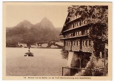 Switzerland; Brunnen & The Myth Mountains Hold To Light Novelty PPC, Unposted