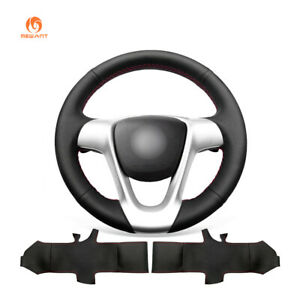 Durable Black Leather Steering Wheel Cover for Smart Fortwo 2009-2013 Forjeremy