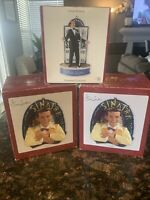 3-Heirloom Collection Frank Sinatra Christmas Music Ornaments Lot All Off Of Me