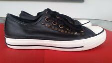 Converse All Star Unisex Leather Black with studs Size 37.5
