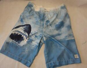 GAP Kids Boys Swim Trunks Surf Blue Shark Size XL 12