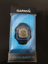 Garmin Forerunner 15 GPS Running Watch and Activity Tracker - Blue/Black New