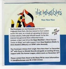 (DN137) The Penelopes, Now Now Now - 2012 DJ CD