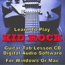 KID ROCK Guitar Tab Lesson CD Software - 10 Songs