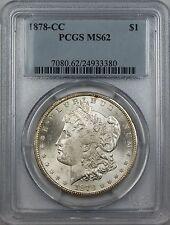 1878-CC Morgan Silver Dollar Coin $1 PCGS MS-62 (Better Coin)