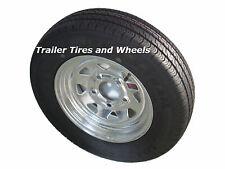 "145R12 LRE Kenda Radial Trailer Tire  on 12"" 5 Lug Galvanized Spoke Wheel"