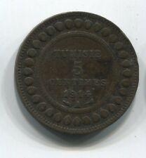 MONNAIE  5 CENTIMES TUNISIE 1914  A  COIN