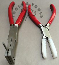 2 un. alicates conjunto de la bobina de Nylon mandíbula Tubo Holding Joyería Artesanías Cables Herramientas