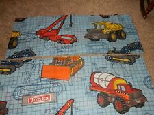 Set of 2 84x15 Vintage Tonka Trucks Blueprints Window Valances (Cutter Fabric)