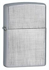 Zippo 28181, Linen Weave Chrome Finish Lighter, Full Size