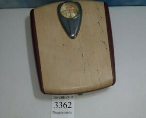 Vintage / Retro 1950's BORG Bathroom Scale Magenta, Tan Works Great